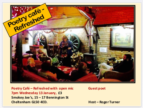 Poetry Café Refreshed at Smokey Joe's, Cheltenham
