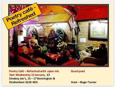 Poetry Café Refreshed at Smokey Joe's, Cheltenham